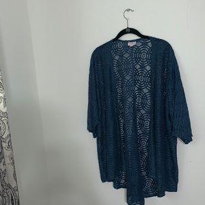 LULAROE - Blue Lace a Lindsay Kimono